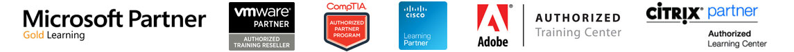 New Horizons is an Authorized Training Partner for Microsoft, Cisco, Citrix, CompTIA, VMware and Adobe